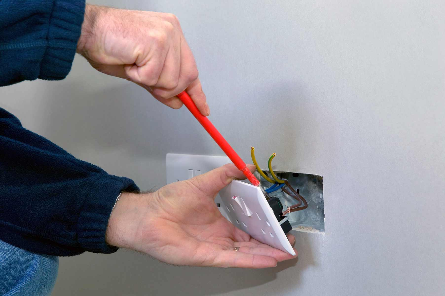 Our electricians can install plug sockets for domestic and commercial proeprties in Camden and the local area.